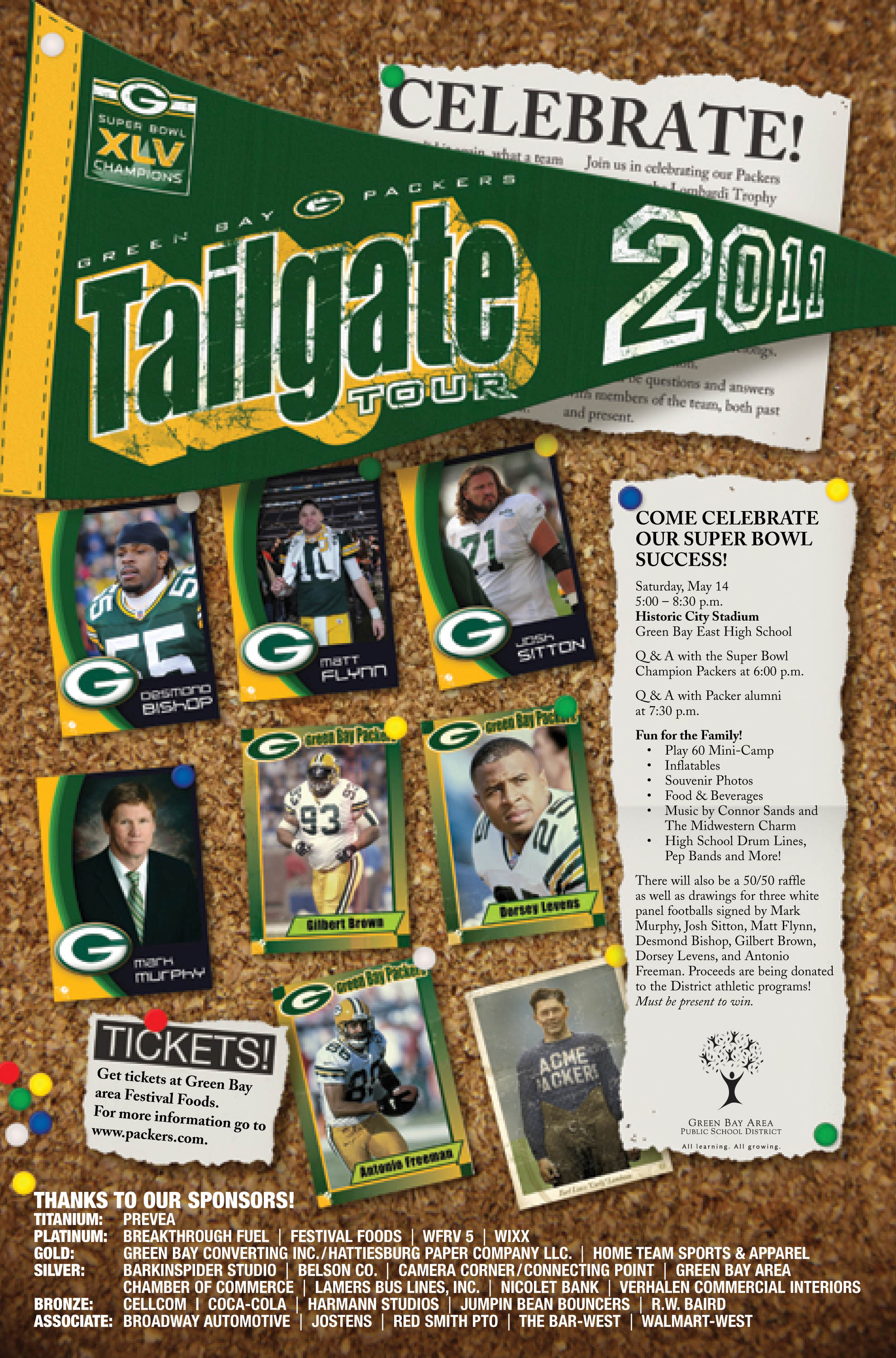 Packers Tailgate Tour Tickets