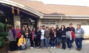 Preble Agriscience students plant 3,500 bulbs at Botanical Gardens