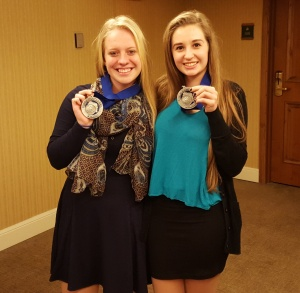 Paige and Katie DECA state